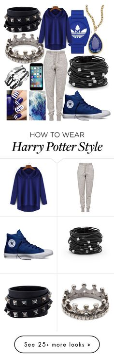"""Jemma's Outfit"" by lifeofwild on Polyvore featuring Chico's, Loree Rodkin, adidas, Topshop, Converse, Valentino, Karen Kane, women's clothing, women and female"