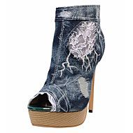 Women's+Boots+Summer+Fall+Club+Shoes+Comfort+Novelty+Fabric+Wedding+Outdoor+Party+&+Evening+Dress+Casual+Stiletto+Heel+Zipper+Walking+–+USD+$+106.18 lightinthebox.com