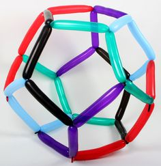 """dodecahedron by Vi Hart / Excellent activity to accompany Norton Juster's,""""Phantom Tollbooth"""" The Phantom Tollbooth, Eighth Grade, Kids Learning, Balloons, Activities, Maths, Middle School, Teaching Ideas, Madness"""