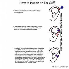 How to wear an ear cuff