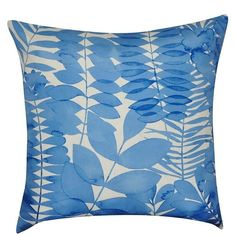 Loom and Mill Leaf II Throw Pillow (44 CAD) ❤ liked on Polyvore featuring home, home decor, throw pillows, blue, blue toss pillows, patterned throw pillows, leaf home decor, leaf throw pillows and floral throw pillows