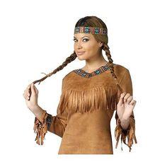 Native American Indian Princess Pocahontas Costume Halloween Fancy Dress