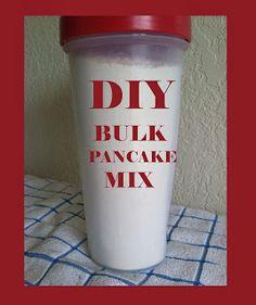 DIY bulk pancake mix. Make at home and pay less than half of brand name pancake mixes
