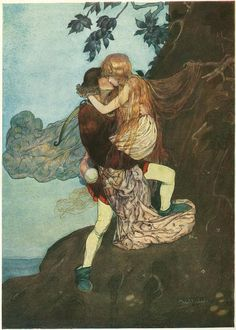 Not sure which tale this is from but it is gorgeous.    Grimm's Fairy Tales illustrated by Gustaf Tenggren