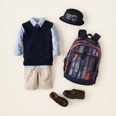 boy - outfits - A+ uniform looks - vest dressed Cute Boy Outfits, Little Boy Outfits, Little Boy Fashion, Kids Outfits, Kids Fashion, School Uniform Outfits, Back To School Outfits, Uniform Ideas, Kids Uniforms