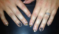 Saints nail art