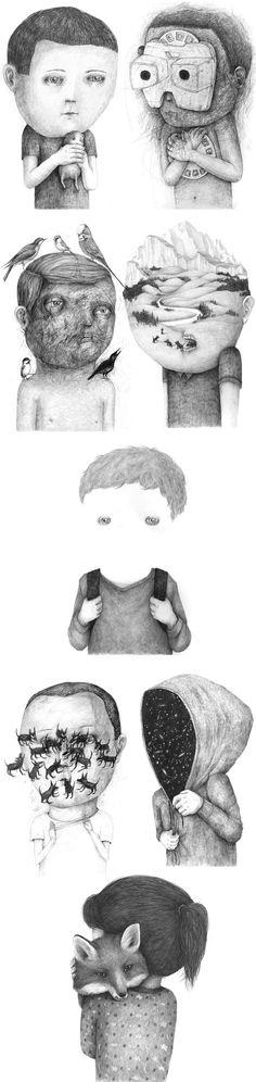 Stefan Zsaitsits drawings