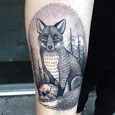 Susanne Konig linework and dotwork tattoo