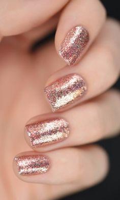 Rose Gold Holographic Nail Polish