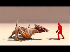 사족 몬스터 공격 피격