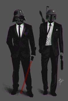 in black...