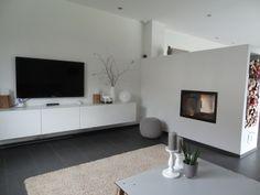 wohnzimmer mit kamin - Kamin Als Trennwand