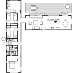 ArchiBlox » Modular Designs - Modular Homes - Bespoke Homes - Prefabricated Homes - Sustainable Homes - George 3 Narrow Lot House Plans, Simple House Plans, Best House Plans, Dream House Plans, Modern House Plans, House Floor Plans, 2 Generation House Plans, U Shaped House Plans, Architectural Floor Plans