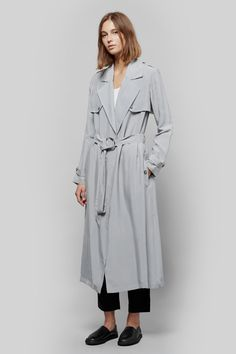 Atea Oceanie Trench Coat & Jersey Track Pants | HOPE Relax Shoes | My Chameleon