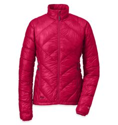 amazingly awesome!  Women's Filament Jacket™ | Outdoor Research: The down-insulated, ultra-lightweight Filament Jacket™ features an incredible warmth-to-weight ratio.