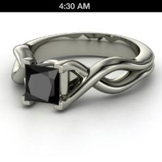 My ideal engagement ring. Black diamonds.
