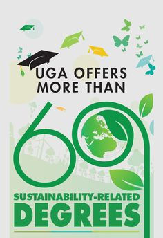 Sustainability is being infused into the curricula of all academic units at the University of Georgia. Throughout our 18 colleges, schools and other programs, a total of over 60 sustainability-related degrees are offered.