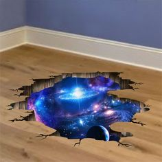 Outer Space Planets Galaxy Wall Stickers Kids Cosmic Ceiling Floor Decoration for sale online Galaxy Planets, Space Planets, Kids Wall Decals, Wall Decor Stickers, 3d Sticker, Galaxy Pattern, Landscape Materials, Floor Stickers, Space Theme