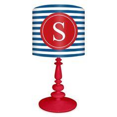"Striped Monogram 21"" Table Lamp"