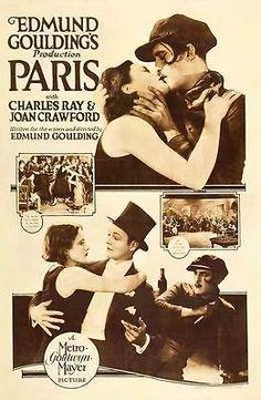 PARIS-Movie-POSTER-27x40-Charles-Ray-Joan-Crawford-Douglas-Gilmore-Michael