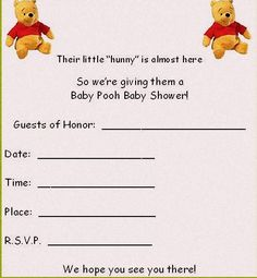 Printable pooh baby shower flower invitations coolest free noooot sure i wanna go to that one the favors would be fun to make baby shower invitation templatesprintable invitationsbirthday invitationswinnie filmwisefo Images