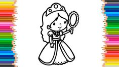 Drawing PRINCESS How to draw a Princess Coloring Page Kids Learn Drawing...