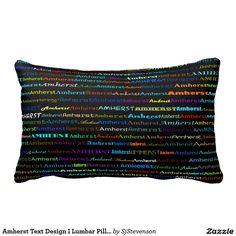 Amherst Text Design I Lumbar Pillow