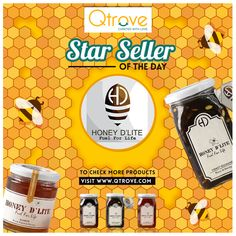 Our #StarSellerOfTheDay - Honey D'lite creates magic with each bottle of their gold liquid honey! Come try them at Qtrove.com