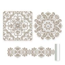 Peel & stick applique - bedroom accent wall, ceiling, and/or headboard
