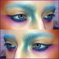 Close up birds of paradise makeup