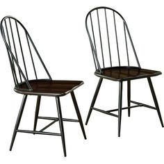 Target Marketing Systems Windsor Set of 2 Mixed Media Spindle Back Dining Chairs wi The Modern Dining Chairs Measure X X and Weigh 31 Lbs. They Arrive with Only Minimal Assembly Required. kitchen and dinning room furniture