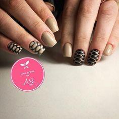 3d nails, Accurate nails, Beige and black nail designs, Dimension nails, Everyday nails, Fashion nails 2017, Medium nails, Nails trends 2017