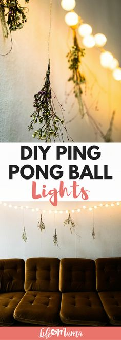 This DIY ping pong ball lighting project is such a great way to add a soft glow to a room. You can use them to add a decorative touch to almost any space, from the nursery to your outdoor patio.