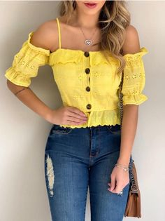 High Society, Corset, Cute Outfits, Ruffle Blouse, Caftans, Fashion Outfits, Crop Tops, Casual, Clothes