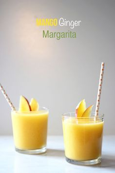 Mango Ginger Margarita with Coconut Cream and @Casa_Noble tequila #NTD