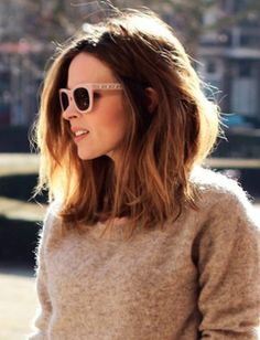 Long bob hairstyle is the biggest hair trend lately! So in this post you will find Latest Long Bobs Hairstyles, you may want to try one of these gorgeous. Modern Bob Haircut, Long Bob Haircuts, Long Bob Hairstyles, Pretty Hairstyles, Very Long Bob, Medium Hair Styles, Curly Hair Styles, Langer Bob, Lob Hairstyle