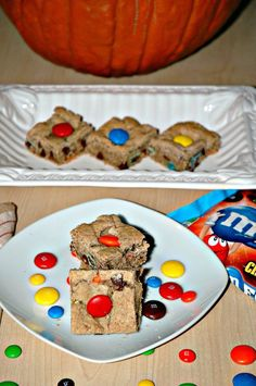 Mega M and M Blondies | Bakewell Junction - decadent and chocolaty. The Ultimate Pinterest Party, Week 77