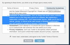 Tumblr has a new and improved TOS complete with explanations for the legalese impaired.  And it has examples too!!