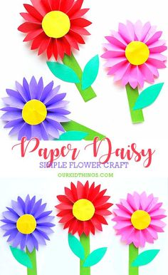 480 best flower crafts for kids images on pinterest in 2018 crafts easy paper daisy craft kids kidcrafts spring summer flowers papercraft mightylinksfo