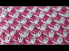 Beautiful crochet stitch that looks almost lacy Tunisian Crochet Stitches, Crochet Stitches Patterns, Crochet Chart, Knitting Stitches, Embroidery Patterns, Stitch Patterns, Knitting Patterns, Crochet Classes, Crochet Videos