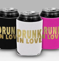 A drunk in love can cooler is a great bachelorette party favor to give to your pre-wedding event guests. They are great to keep canned or bottled beverages cold and stop them from sweating on your surfaces. Bachelorette Party Planning, Bachelorette Party Gifts, Wedding Favors, Wedding Events, Drunk In Love, Wedding Insurance, Love Can, Perfect Party, Best Part Of Me