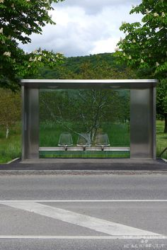 Ticket To Ride: Vitra Bus Stop By Jasper Morrison- Jasper Morrison designed the bus stops at the Vitra Campus in Germany in The bus stops, typical of his pared back style, are made made from. Urban Furniture, Street Furniture, Landscape Elements, Landscape Architecture, Bus Stop Design, Urban Ideas, Bus Shelters, Shelter Design, Ticket To Ride