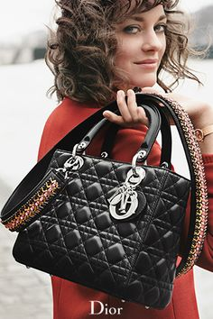 "dior: ""The 'Lady Dior' bag, introduced with Marion Cotillard. More on Diormag.com. """