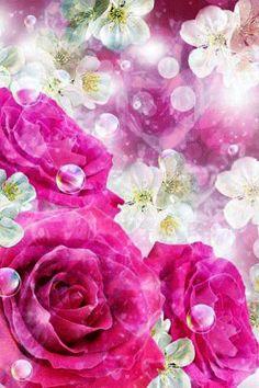 Цветочный фон из роз.