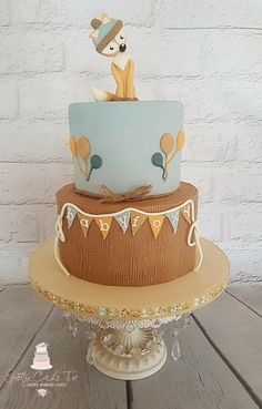 Foxy Baby Shower Cake by Shell at Spotty Cake Tin
