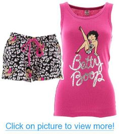 Pink Betty Boop Leopard Short Pajamas for Women Leopard Shorts, Pajama Shorts, Pajamas Women, Betty Boop, Crop Tops, Pink, How To Wear, Clothes, Shoes