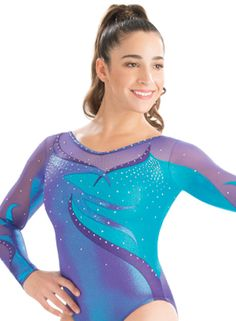 Twisted Flame Long Sleeve Leotard from GK Elite