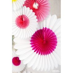 Fleur à suspendre rose/blanche (32 cm) - Engel