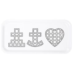 Faith, hope & love - the symbols of Anns hometown in Finland, Jakobstad.The tray is made of birch veneer and can be washed in the dishwasher up to 95 degree
