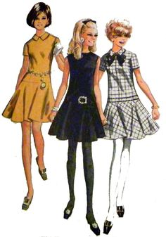 1960s Drop Waist Sundress Sewing Pattern Size by retroactivefuture, $8.00